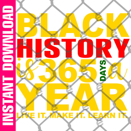 Black History 365 PNG SVG