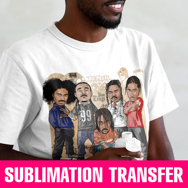 Bone Thugs Sublimation Transfer