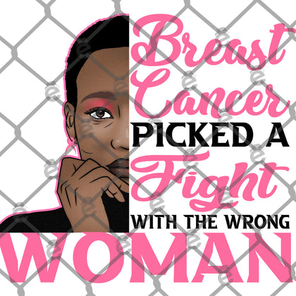 Wrong Woman Breast Cancer PNG SVG