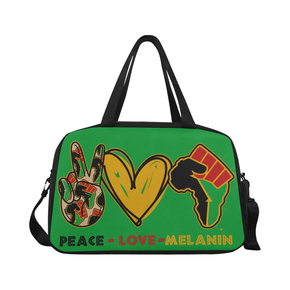 Peace Love Melanin Weekend Bag - Green