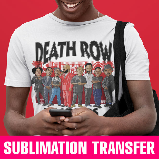 Death Row Records Sublimation Transfer