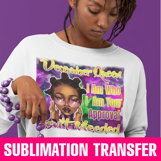 December Bantu Queen Sublimation Transfer
