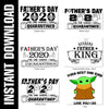 4 Fathers Day Bundle SVG PNGs