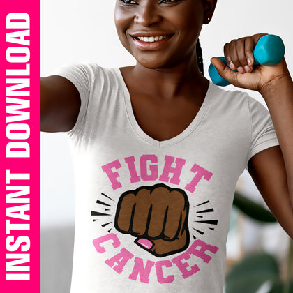 Fight Cancer Fist PNG SVG