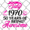 July 1970 50 Years PNG SVG
