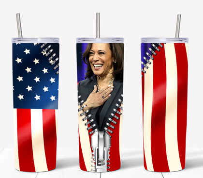 Kamala Harris Tumbler Sublimation Transfer