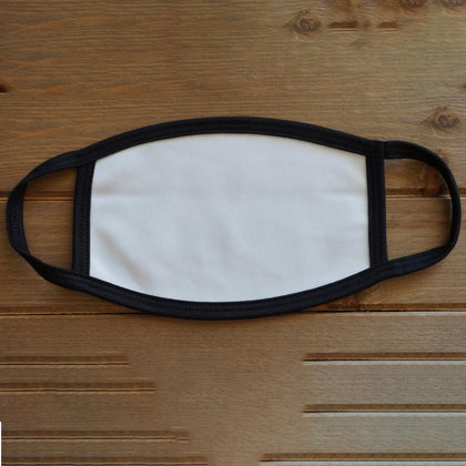 Kids Blank White Sublimation Mask - 1 piece