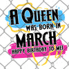 A Queen Was Born March PNG SVG