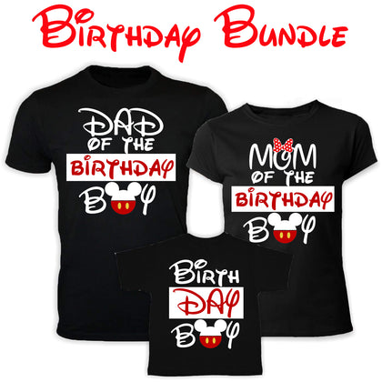Mickey Birthday Boy Bundle PNG SVG