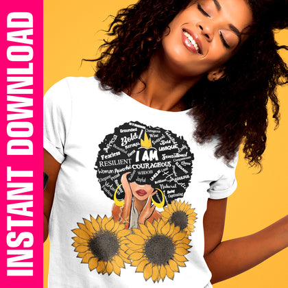 Sunflower Sistah PNG SVG