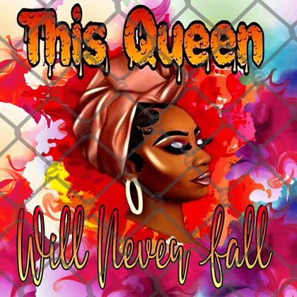 This Queen Will Never Fall Tumbler Designs