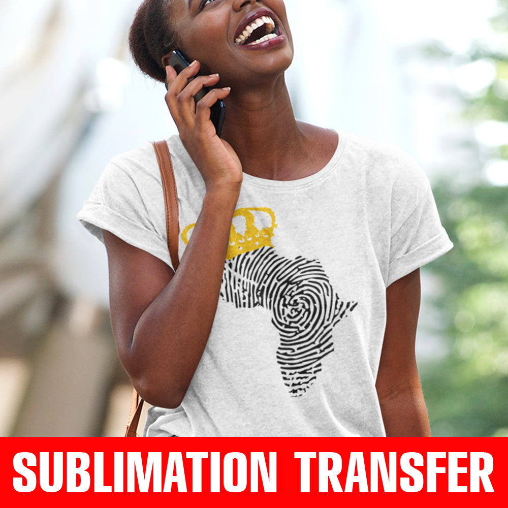 Crowned Africa Sublimation Transfer