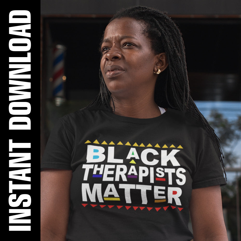Black Therapists Matter PNG SVG
