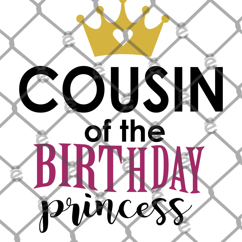 Cousin of the Birthday Princess PNG SVG