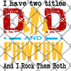 Two Titles Dad and PawPaw PNG SVG