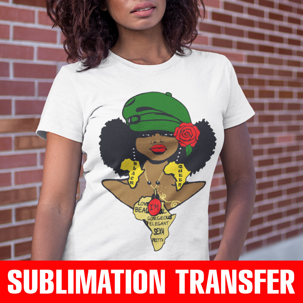 Afro Sista Sublimation Transfer