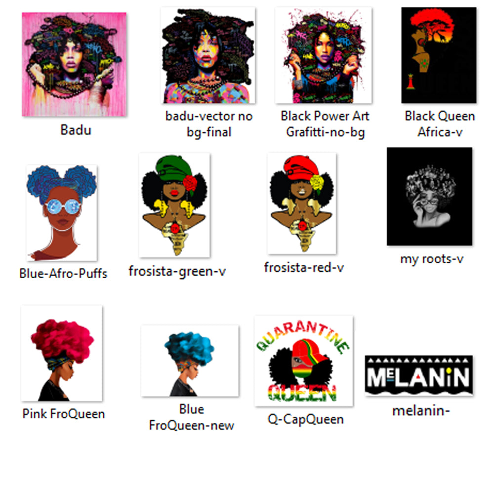 11 Afro Sistas JPGs ONLY