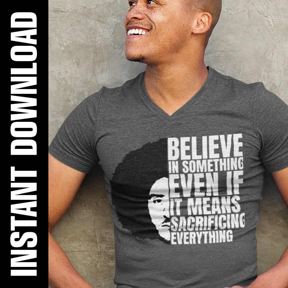 Kaepernick Believe in Something PNG SVG