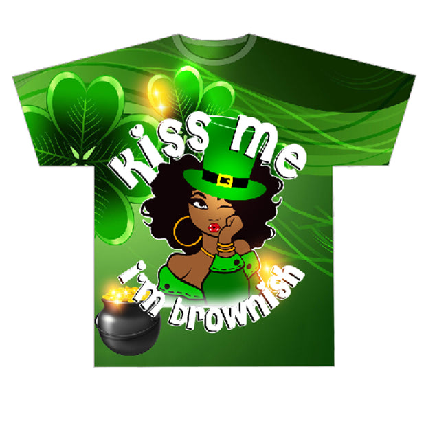 Kiss Me I'm Brownish AOP Sublimation and Chest Design