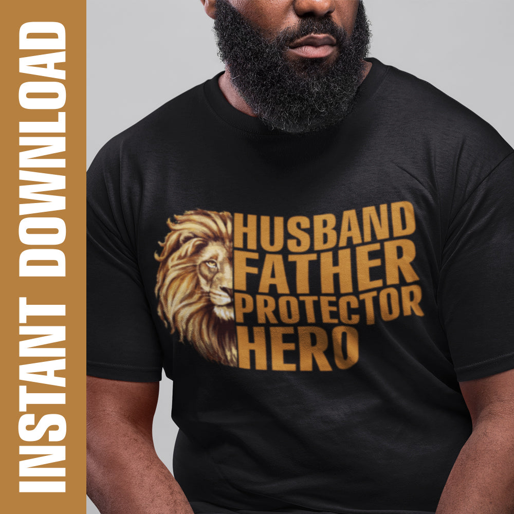 Lion Husband Father Hero PNG SVG