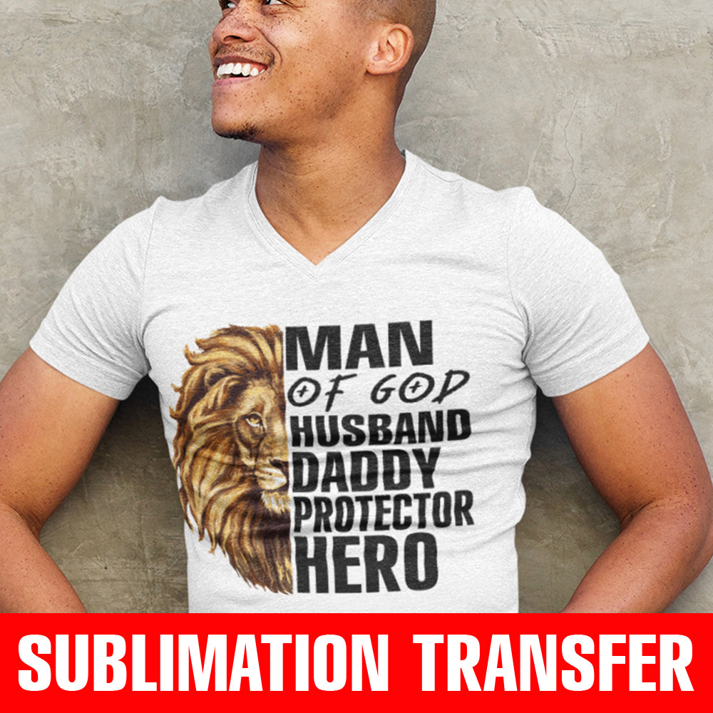 Lion Man of God Sublimation Transfer