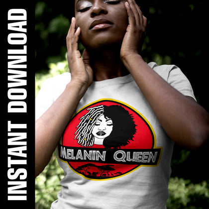 Melanin Queen PNG SVG