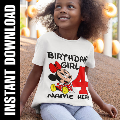 Minnie Mouse Birthday Bundle PNG SVG