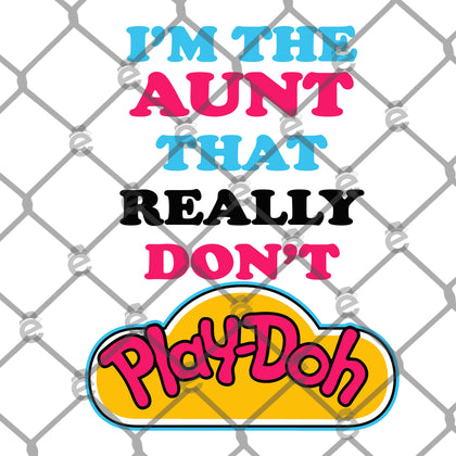 Aunt Play-doh PNG SVG
