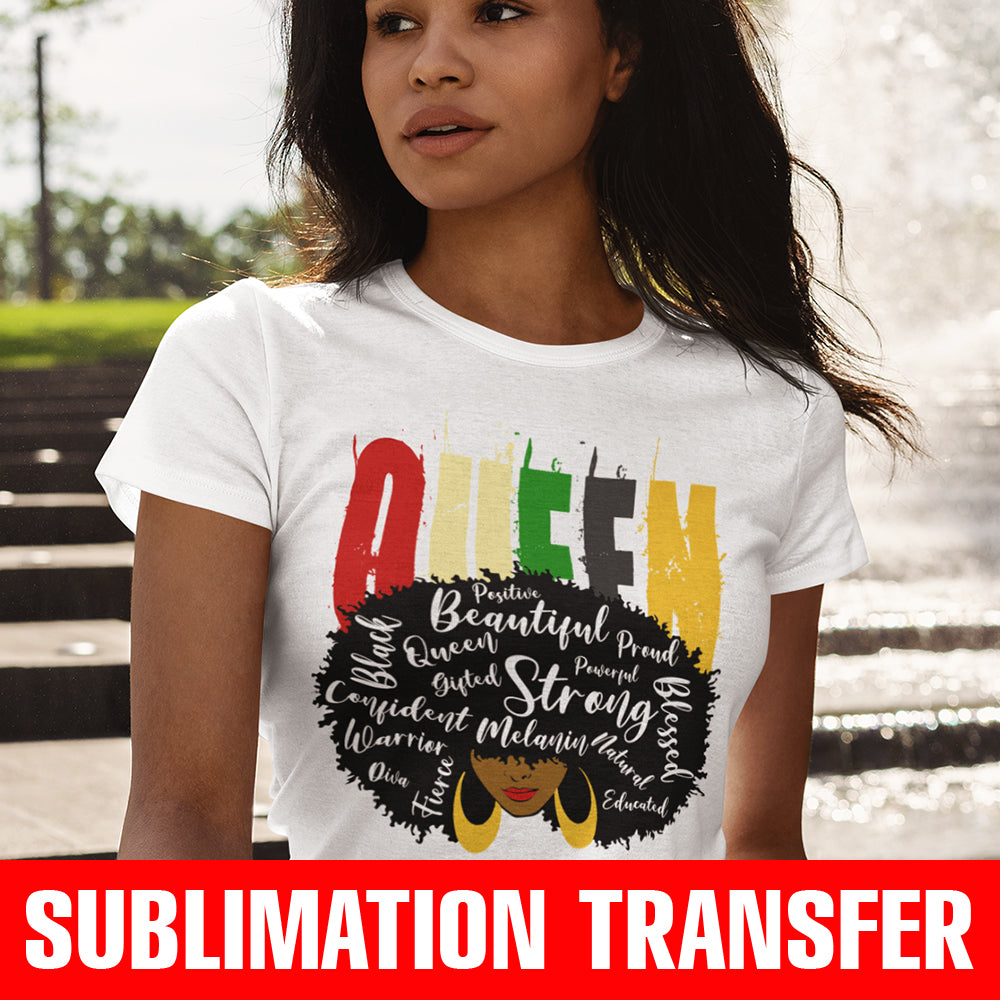 Queen Motives Sublimation Transfer