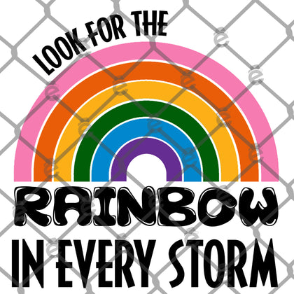 Look for the Rainbow in Every Storm PNG SVG