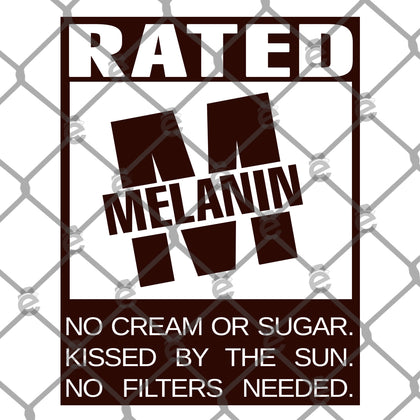 Rated Melanin PNG SVG