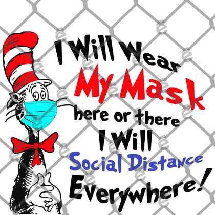 Seuss Social Distance PNG SVG
