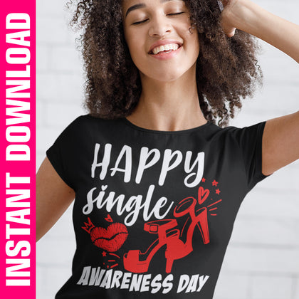 Happy Single Awareness Day PNG SVG