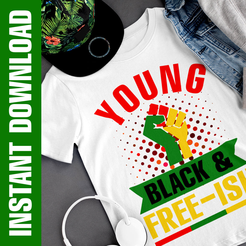 Young Black & Freeish PNG SVG