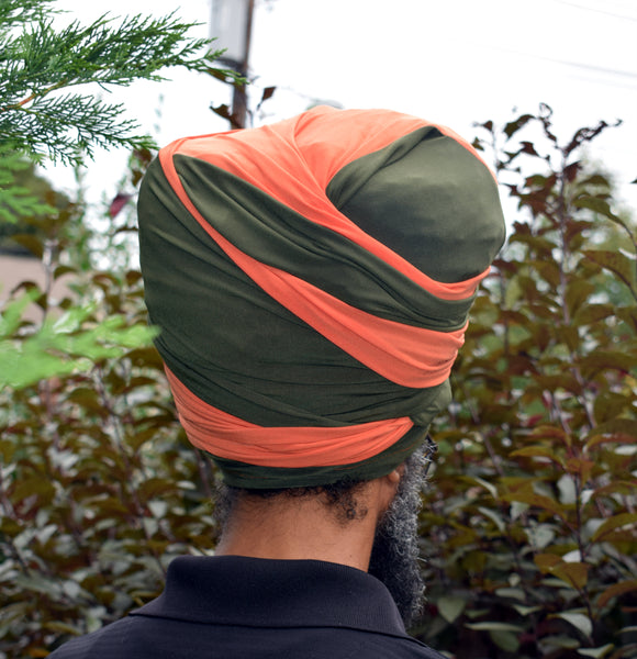 Orange n Olive Tubular Wrap