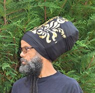 Black N Gold Stretch Hat
