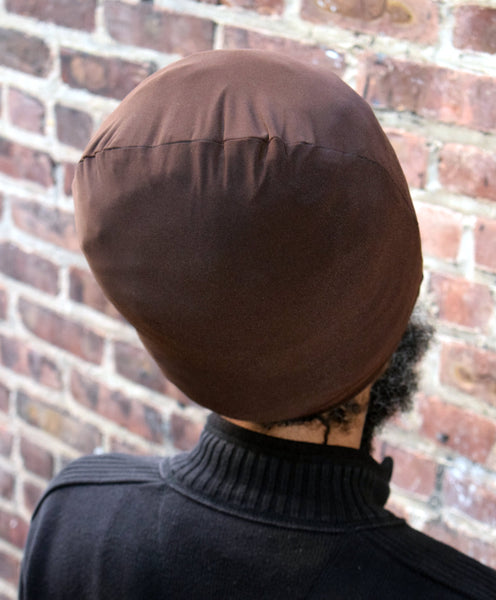 Brown Stretch Hat- Back View.