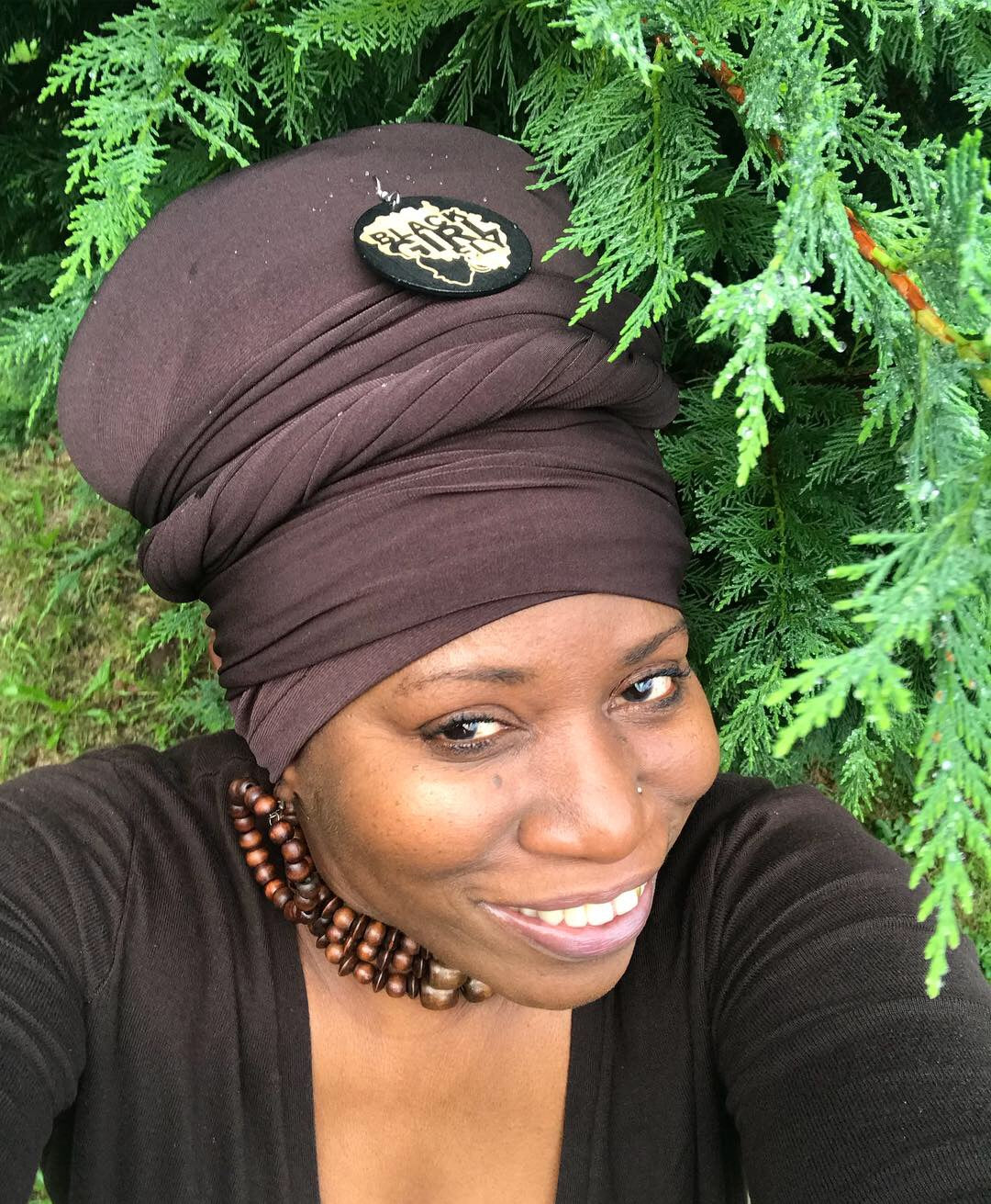 Ebony- Brown Cotton Head-Wrap