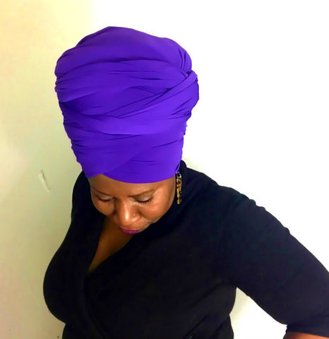 Purple Head-Wrap