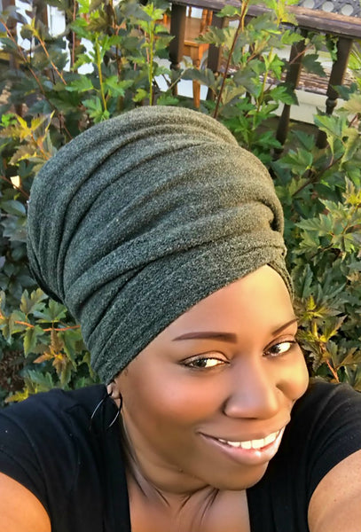 Olive Wool Head-Wrap