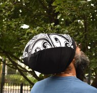 Front Row Black & White Stretch Hat