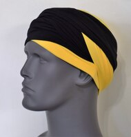 Black & Yellow EZ PZ Turban Wrap