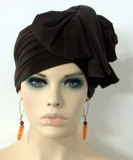 Women Brown EZ PZ Turban Wrap