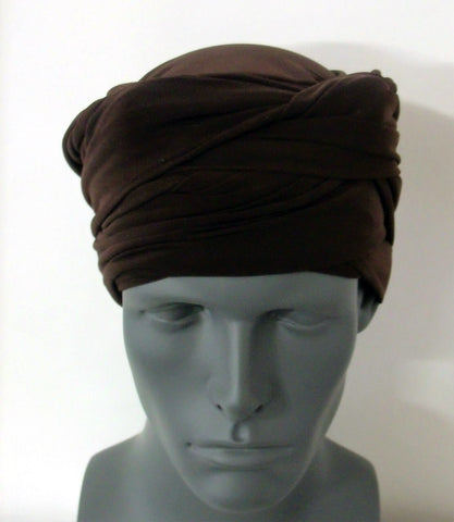 Brown EZ PZ Turban Wrap
