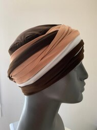 Chocolate Caramel EZ PZ Turban Wrap