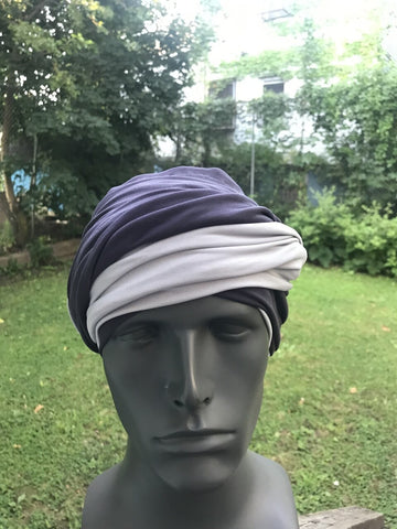 Dark Gray and Light Gray EZ PZ Turban for Men