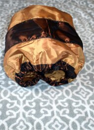 Gold & Brown Adjustable Shower Cap