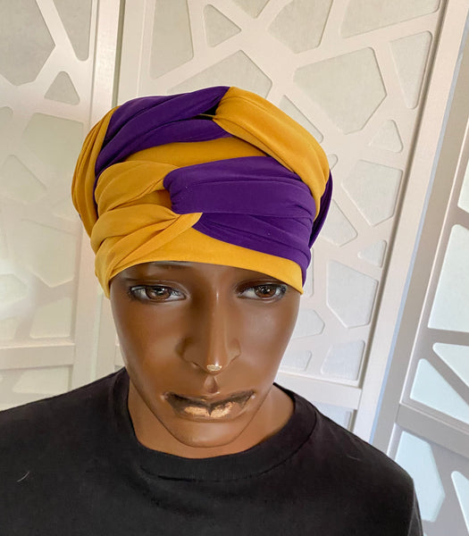 Purple n Gold EZ PZ Turban Wrap