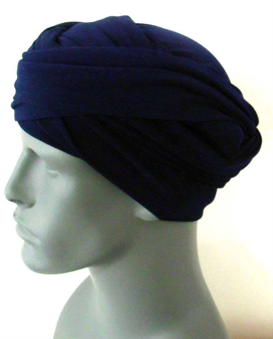 Navy EZ PZ Turban for Men