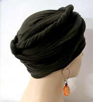Women Olive EZ PZ Turban Wrap